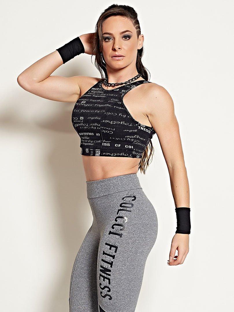 Blusa Cropped Estampada - Colcci Fitness