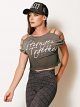 Blusa Cropped Stronger Together - Colcci Fitness