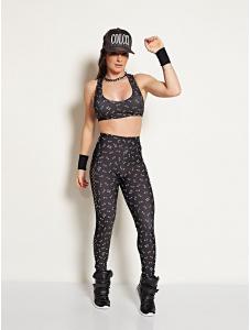 Calça Legging Fusô Estampada - Colcci Fitness