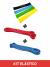 kit Elásticos Power Band + Mini Bands Home