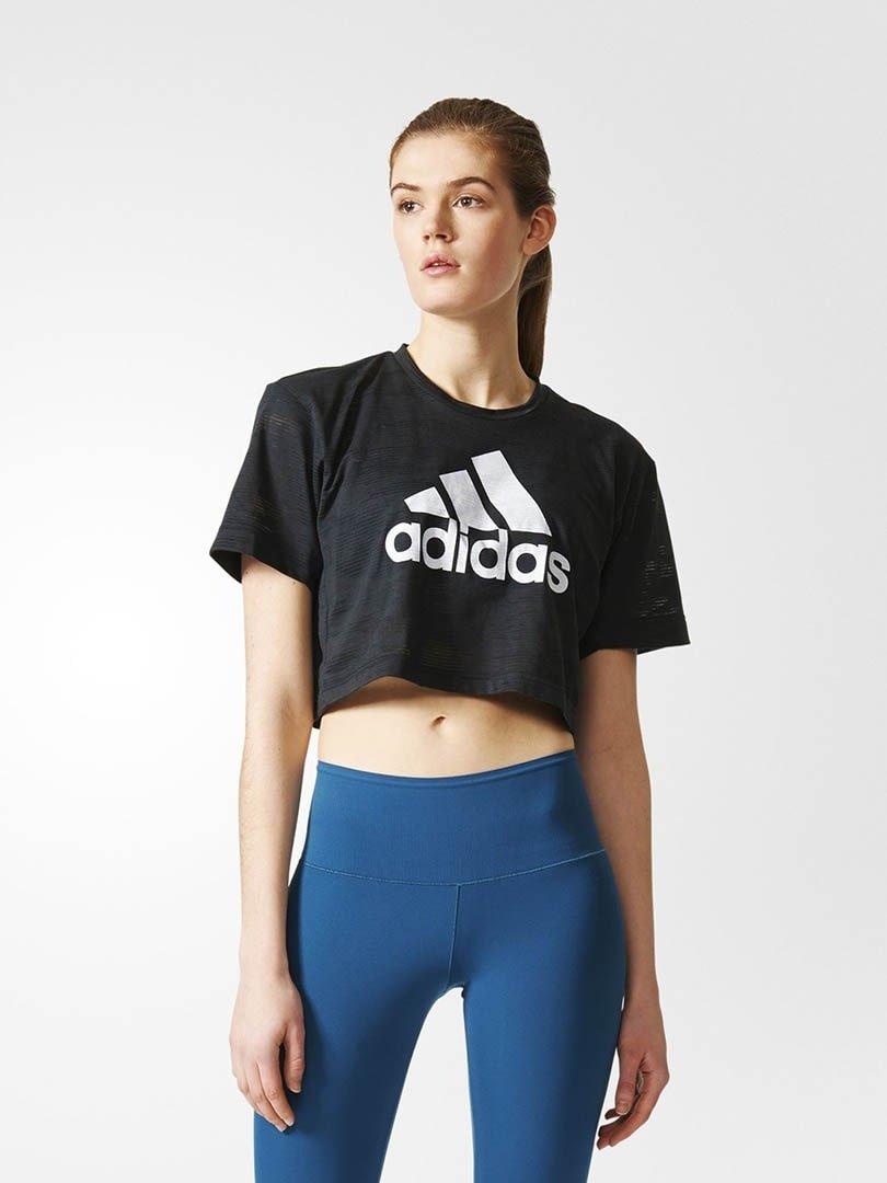 Camiseta Cropped Aeroknit Adidas Feminina