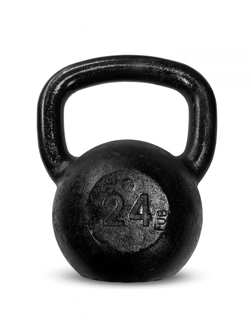 Kettlebell Ferro Preto 24kg - Next Fitness
