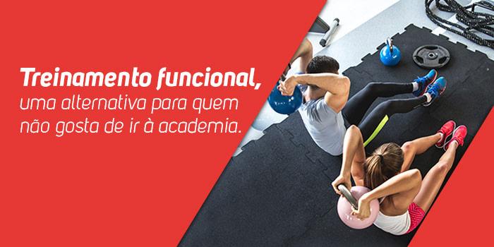 Treinamento funcional, uma alternativa para quem não gosta de ir à academia.