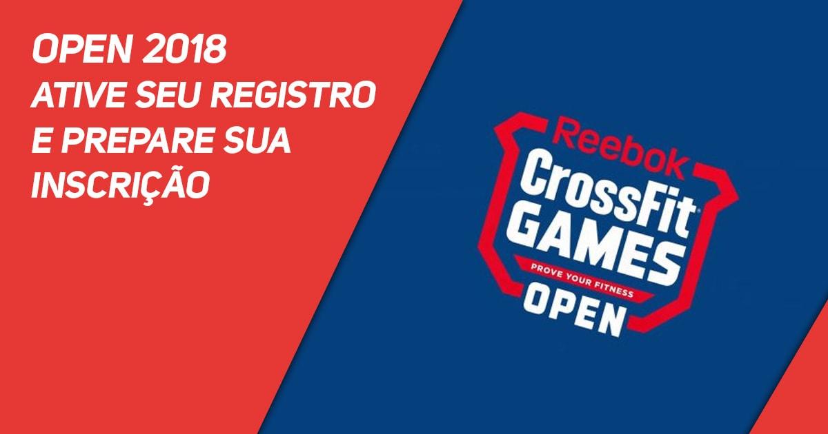 Open 2018 - Ative seu registro e prepare sua inscrição