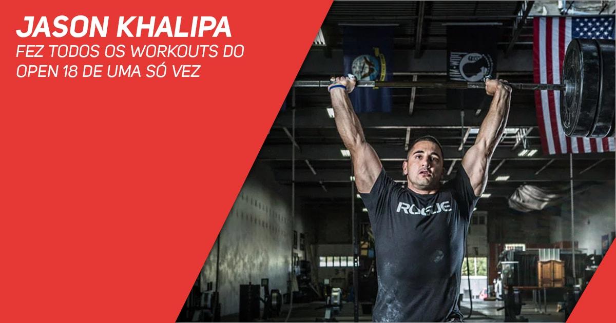 Jason Khalipa fez todos os Workouts do Open 18 de uma só vez