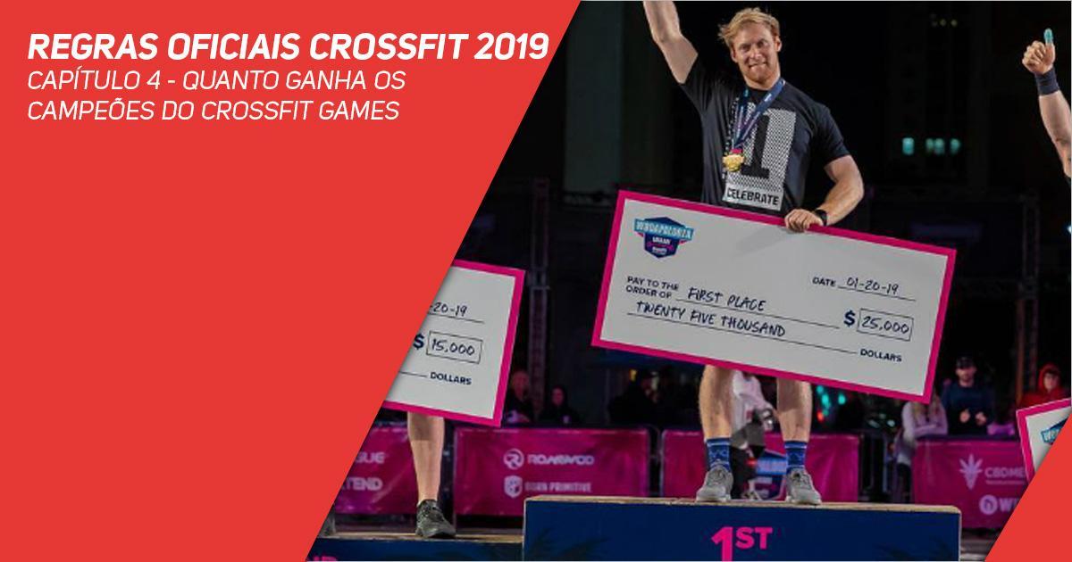 Regras oficiais CrossFit 2019 - Capítulo 4 - Quanto ganha os campeões do CrossFit Games